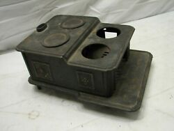 Antique Cast Iron Toy Cook Stove Wood Doll House Salesman Sample