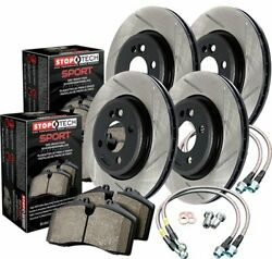 StopTech 977-34004 Sport Brake Kit Slotted Front And Rear Incl. Rotors Pads And