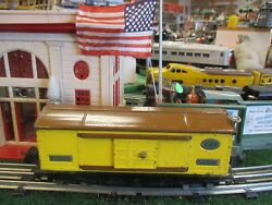 Lionel Prewar 814 Box Car Brown And Yellow Good Orig Cond 1938-42 Box Couplers