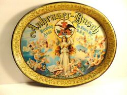 Colorful Older Anheuser-busch Brewing Assn. St. Louis Mo.advertising Beer Tray