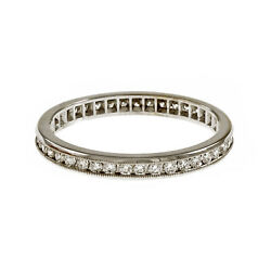 Peter Suchy Channel Set Diamond Band Eternity Ring 18k White Gold