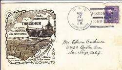 1940, Uss Thresher, Ss-200, 1st Day Commissioning, Hesse Cachet N911