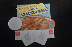 Frying Can Be Easy Use Nabisco Cracker Meal Store Display