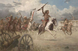 Z S Liang Charge Of Crazy Horse On Ft Laramie 1864 Oglala Mw Giclee Cnvs 10/10