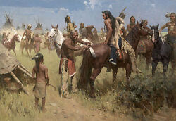 Z. S Liang GRANDPA'S BLESSING Museum Edition Giclee #112 Native American