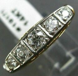 Antique 1.26ct Old Mine Diamond 14kt Two Tone Gold Classic Filigree Ring 19171