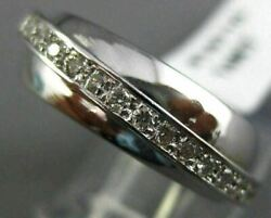 Antique Wide .60ct Diamond 14kt White Gold 3d Floating Criss Cross Ring 16710