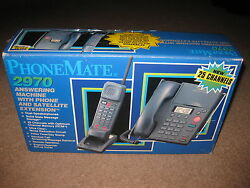 Phonemate 2970 Answering Machine W/ Phone And Satellite Extension - New