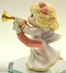 Precious Moments Dated 2013 Christmas Angel Blowing Horn 131001 Nib