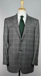 Kiton Black Mens Recent 2-btn Wool Cashmere Suit 40 R Us New 9250 Imperfect
