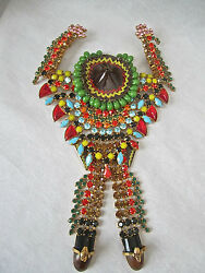 Hanna Bernhard.. Fabulous Huge Brooch. Mexican Theme. Perfect Condition
