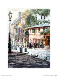 Richard Macneil Sunshine Cafe Art Print 12 x 16 Inches Officially Licensed