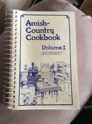 Amish Country Cookbook Volume 1 1979 Softcover Spiral Vintage Recipes