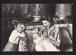 C1965 Real Photo Queen Elizabeth Ii Andrew And Edward Uk Royalty 4x6 Postcard