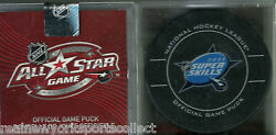 2011 Nhl All Star Super Skills Competition Official Game Puck Rare