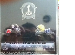 Super Bowl Xlv 45 Steelers Packers 3-pin Set New Rare