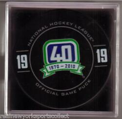 Markus Naslund Vancouver Canucks Retirement Night Official Puck 19 Rare