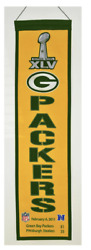 Green Bay Packers Super Bowl Xlv 45 Champions Heritage Banner Aaron Rodgers