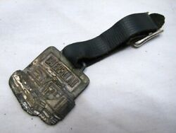 Antique Caterpillar Watch Fob Giles And Ransom Philadelphia Tractor Cat Metal Arts