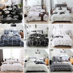 Soft Cotton Printed Duvet Quilt Cover Bedding Set Twin Queen Full King Us Size