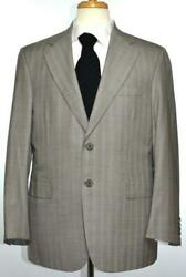Brioni Toscana Mens 2-btn Super 180and039s Wool Suit Size 42 /52 R New 6800