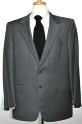 Brioni Traiano Mens Gray 2-BTN Wool Suit Size 44 54 R NEW $5000