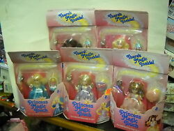 2302 Vintage Coleco Rare/htf Nrfb Princess Magic Touch 5 Dolls And 1 Playset