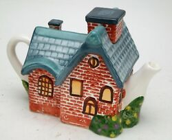 Unique Full Size Collectible Teapot By Thomas Kinkade Co. Hand Made And Painted.