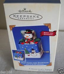 9284 Hallmark 2003 Pop Goes The Snowman Ornament 1 In Jack In The Box Memories