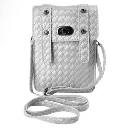 Women Leather Braided Phone Pouch Purse Case Crossbody Bag For iPhone 11 Pro Max