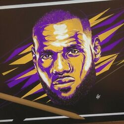 Lebron James Face Poster - Poster 24x36
