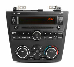 2007-09 Nissan Altima Radio AM FM CD w Aux & Climate Controls 28185 ZN40A PY13B