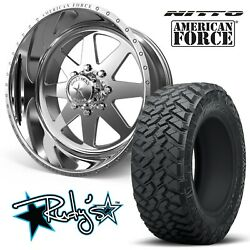 (4) 20x10 American Force SS8 Independence Wheels 35