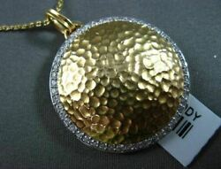 Antique .44ct Diamond 18kt White And Yellow Gold Hammer Circle Design Pendant