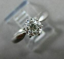 Antique .73ct Old Mine Diamond 18kt White Gold Solitaire Engagement Ring 22211