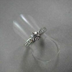 Antique 14k White Gold 6mm .91ct Diamond Engagement Ring Simple And Beautiful