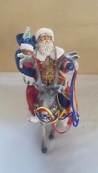 Midwest Of Cannon Falls Santa Claus On Reindeer Christmas Figurine