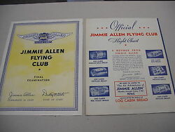 2 Jimmie Allen Flying Club Radio Show Sponsor Mail-in Premiums From 1934