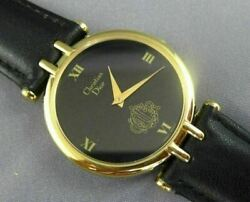 Estate Wide Christian Dior Swiss Made Classic Round Roman Numeral Watch 26004