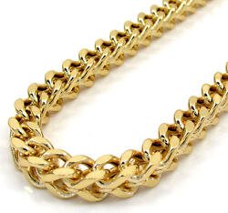 20-40 Inch 5mm 10k Yellow Gold Box Franco Xl Hollow Chain Necklace Mens