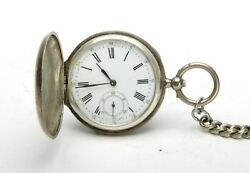 Antique Silver Case 0875 Pocket Watch W/three Covers And Winding Key. Unusual.