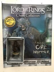 Lord Of The Rings Chess Collection 28 Orc Drummer Eaglemoss Figure Pawn + Mag