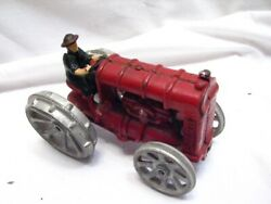 Vintage Cast Iron Traction Engine Toy Tractor Fordson Farm