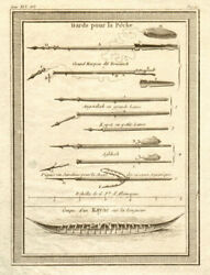 And039dards Pour Pandecirccheand039. Greenlandersand039 Fishing Harpoons And Kayak / Canoe 1770 Print