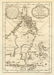 And039carte Des Isles Philippines Celebes And Moluquesand039. East Indies. Bellin 1746 Map
