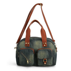 Denim Women Handbags Casual Totes Women#x27;s Shoulder Bags Jeans Retro Women Purse $23.90