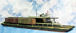 169' Two Track Station Car Float Ho Railroad Unpainted Waterline Hull Kit Fr151