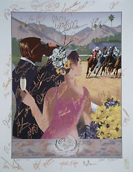 2013 Breeders Cup Poster Signed X74 Mike Smith Victor Espinoza Bo Derek ++ /100