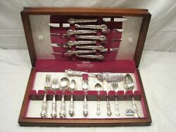 1847 Rogers Bros Heritage Silver Plate Flatware 53pcs Svc For 8 W/box