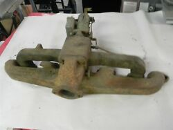 1940-1948 Chevy Truck Car Intake And Exhaust Manifold W/ Yf Carburetor Used Nice